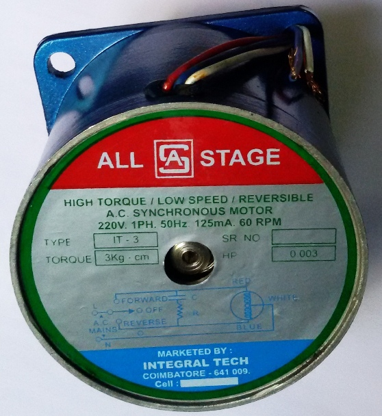 All Stage A.C Synchronous Motor